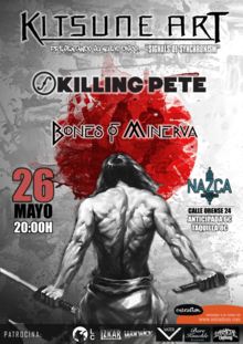 "KITSUNE ART EN MADRID GIRA ""SIGNALS OF SYNCHRONISM"" + KILLING PETE + BONES OF MINERVA"