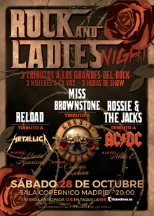 ROCK AND LADIES - Tributo a Metallica, AC/DC y Guns n´Roses