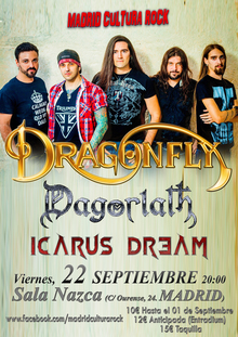 MADRID CULTURA ROCK II: DRAGONFLY + Dagorlath + Icarus Dream