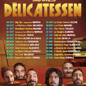Cartel gira delicatessen 2018