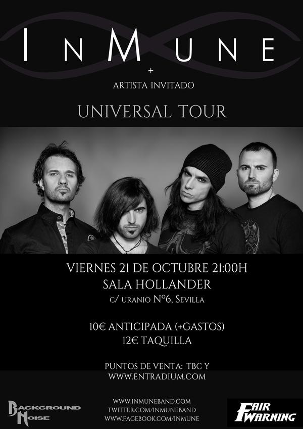Tickets for inmune universal tour en sevilla in sevilla for Sala hollander