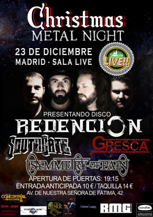 Redencion Metal Band en Madrid +Gresca + South gate + Symmetry of pain