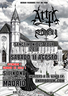 ATTIC + Redimoni, MADRID Sanctimonious Tour 2018