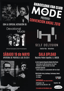 Convención Anual 2018 Depeche Mode Barcelona Fan Club