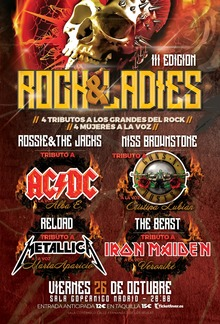 ROCK AND LADIES - Tributos a Metallica, Guns n Roses, Iron Maiden y AC/DC