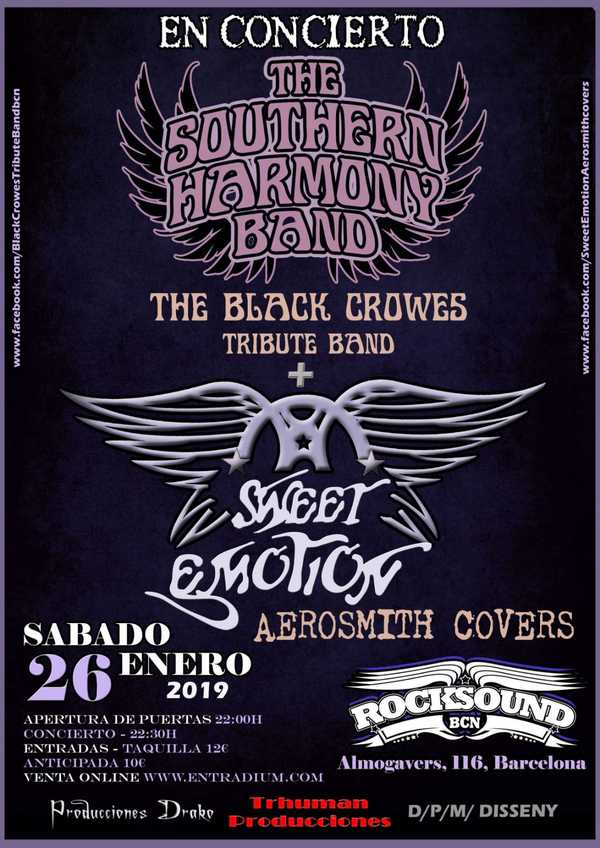 Tributo BLACK CROWES + AEROSMITH covers, 26 enero BARCELONA IMG-20181204-WA0003